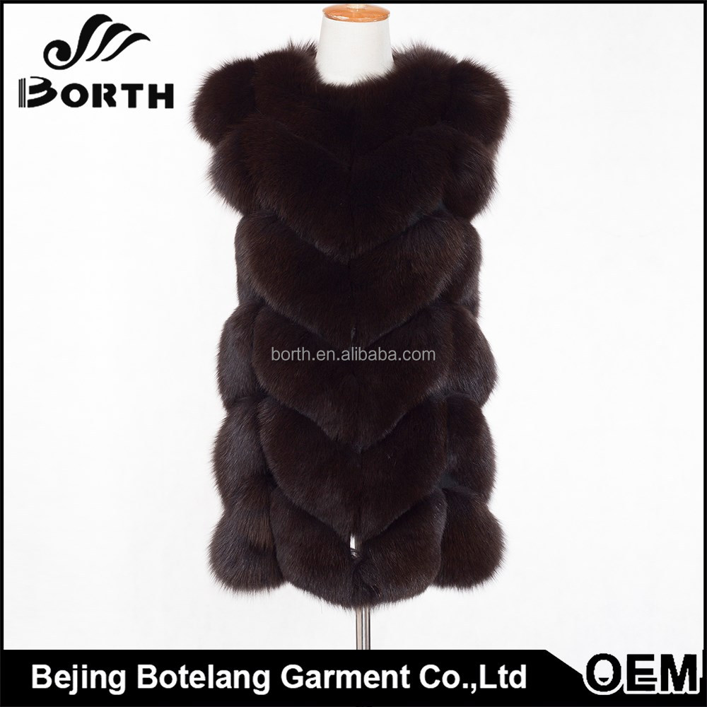 OEM service wholesale fashion fur coat women winter clothes without collar