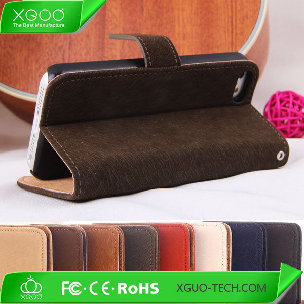 pu leather wallet case for iphone 5c fashion design for men