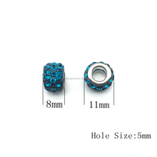 Big Hole Shamballa Beads for Bracelets Clay pave CZ Jewelry Making
