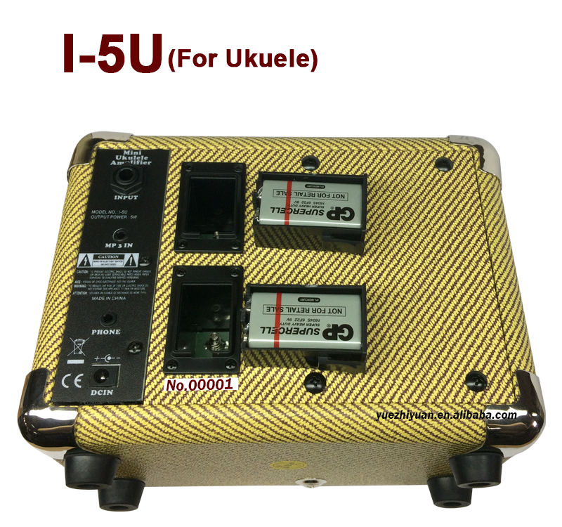 Hot sale 5 watt Portable amplifier for UKulele amp I-5U