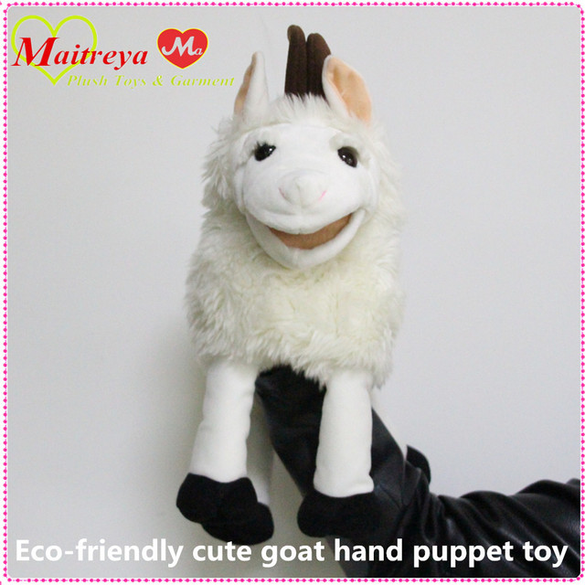 Top quality Eco-friendly cute goat hand puppet toy