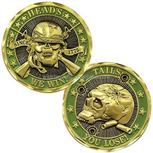 Heads We Win Tails You Lose Coin fantastic skull coins for Halloween