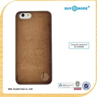 Laser Engraving Blank Custom Design Wholesale Cell Phone Case For Iphone 6 Wood bamboo for i phone cover