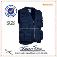 Man Clothing for blue fishing vest
