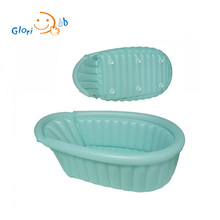 inflatable eco-friendly baby infant portable plastic bath tub with sucker cups