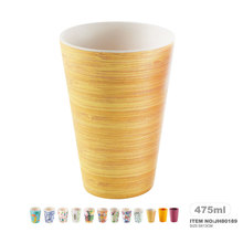 Assorted colorful 400ml bamboo fiber cup