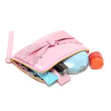 Wholesale Cute and Red Wristlet Beauty Accessories Cosmetic Bags