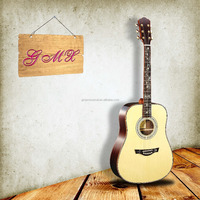 Wholesale grand archtop guitar solid wood acoustic guitar with gigbag