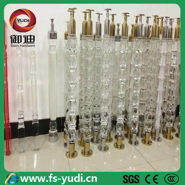Stainless steel acrylic stair balustrade railing system