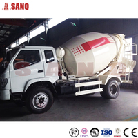 Self loading 8 cubic meters Concrete Mixer Truck for sale