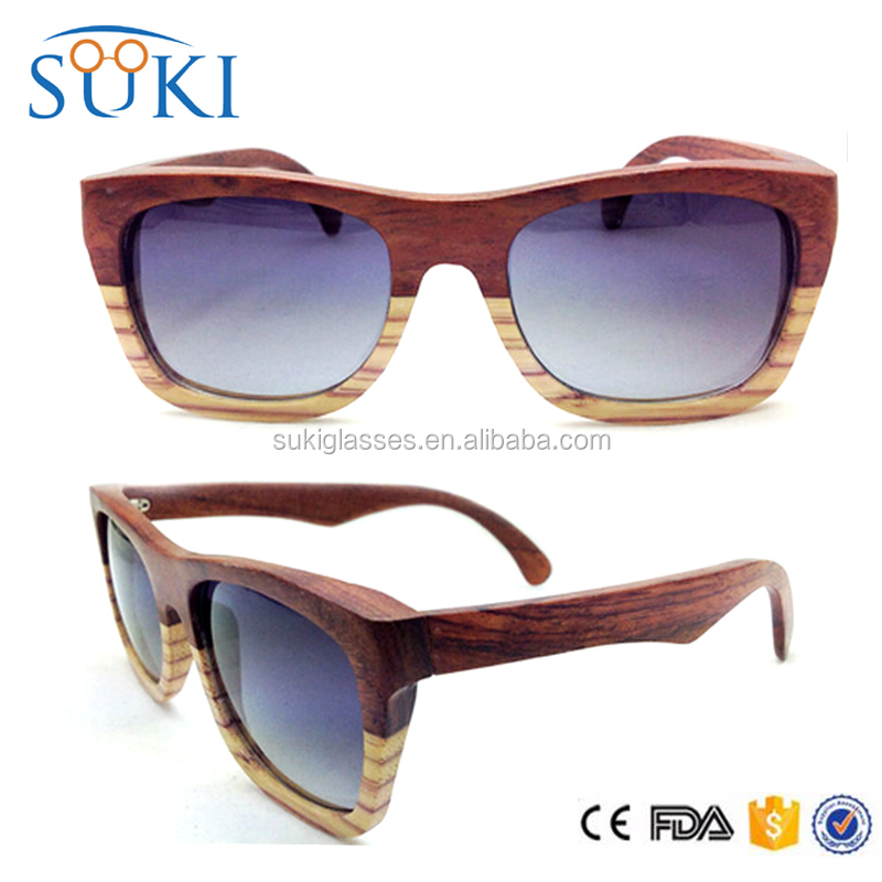 Newest 2016 Custom fashion mens polarized wooden floating sunglasses