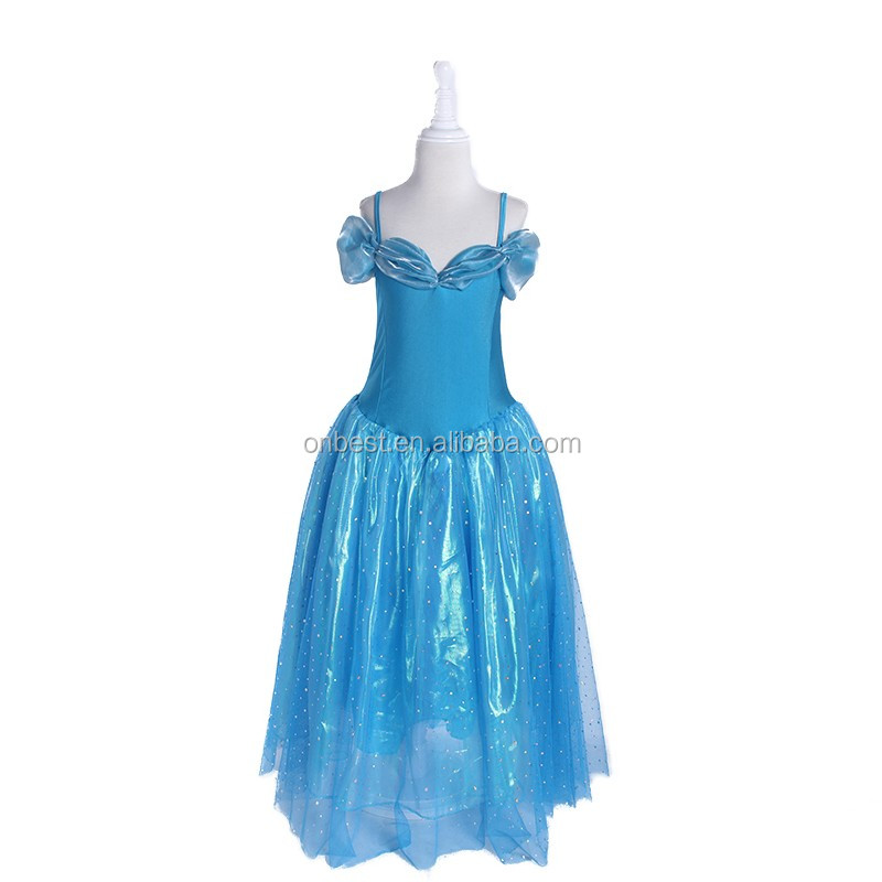 Free shipping elegant princess tiana costume new coming fairy costume printed satin fabric