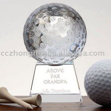 Unique high quality crystal golf globe