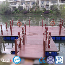 plastic seamless poly floating dock in lake