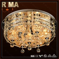 Flower Glass crystal pendant celling light,led drop ceiling light fixture RM909-600