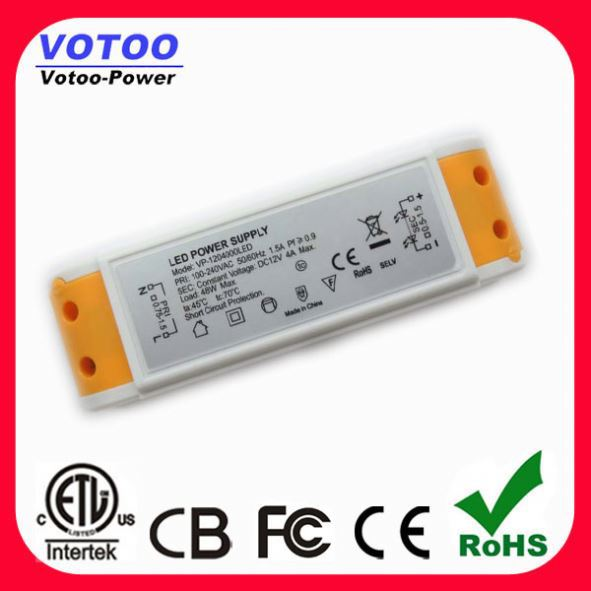 ac to dc converter 12 Volt 4 Amp 48 Watt Constant Voltage Led Driver 12V 48W