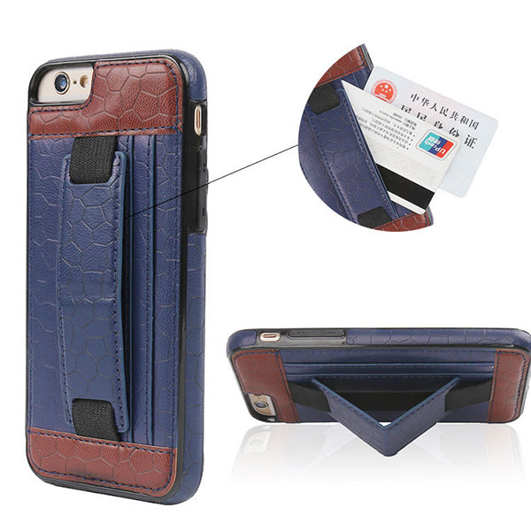 Luxury Fashion PU Leather Magnet Wallet Creadit Card Holder Flip Case for iPhone 6