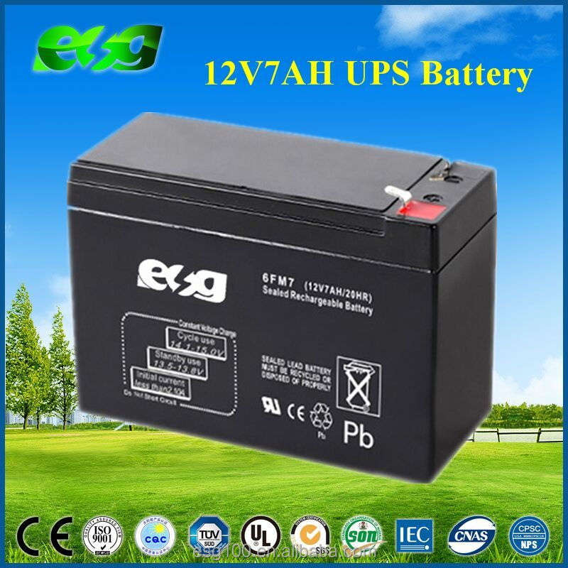 Agm lead acid ups battery 12V 7AH
