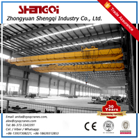 Best Promotion Rail Travel Double Trolley Overhead Bridge Cranes 10T With Trolley