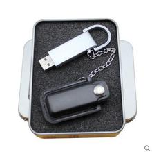 buckle holster leather metal usb stick drive with chain