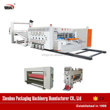 China carton machine manufacturer 4 Color Automatic Printer Rotary die Cutter