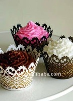 2013Filigree Laser cut paper cupcake wrappers