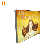 Aluminum frame rotating light box for advertising
