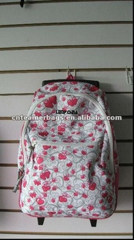 2012 colourful school trolley bags backpack