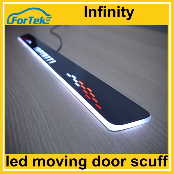 auto decoration light Infinity car front door led moving door scuff light