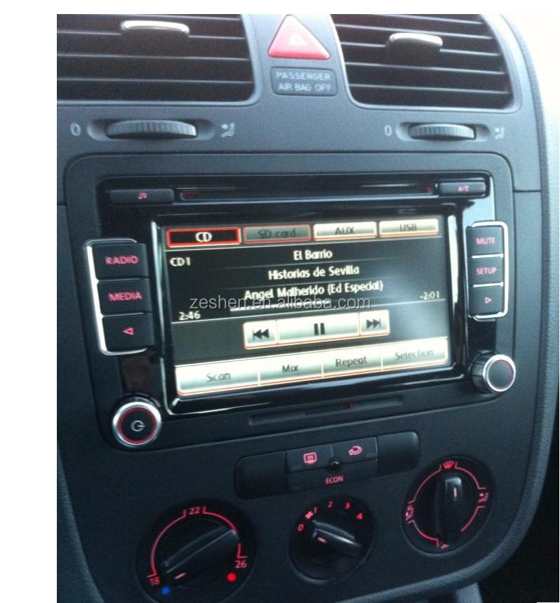 vw auto radio stereo rcd510 original radio mit code golf 5. Black Bedroom Furniture Sets. Home Design Ideas