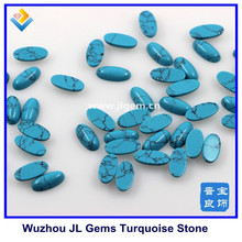 7x14mm Large High Quality Synthetic Oval Cabochon Blue Turquoise Stone , turquoise stones for jewelry making