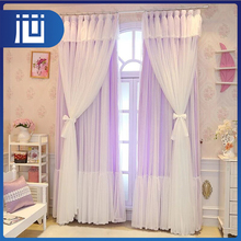 Professional custom logo colorful bulk decorative luxurious lace curtains with valance