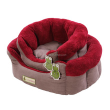 cuddle dog bed with suede