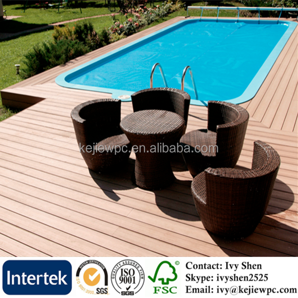 Teak Color Wood Plastic Composite Decking Plastic Floor Outdoor Wood Plastic Composite Price