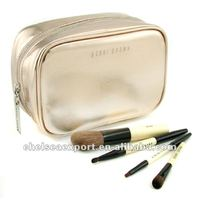 golden flash pvc brush cosmetic bag