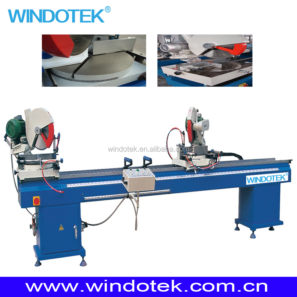 Double head cutting saw for pvc/upvc/vinyl/plastic profile