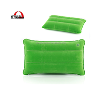 Portable Camping Travel Neck Cushion Adjustable Air Pillow Suede Fabric