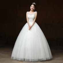 2018 China Factory Supply New Design Sexy Keyhole Back Wedding Dress With Blooms