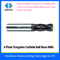 2/4 Flute HRC46/52/60 Solid Carbide Corner Radius end mill cutting tool