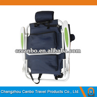 CB-008H New Design Luxury Backpack Folding Beach Chair with plastic armrest