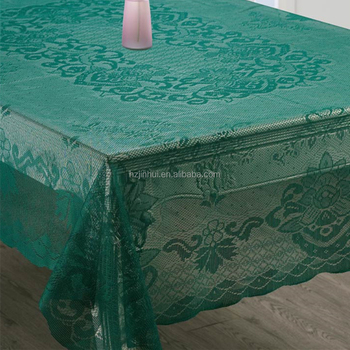 cotton tablecloths wedding tablecloths oval tablecloths 60x 90Inch GreenColor