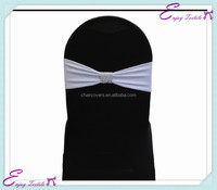 YHB#401 rhinestone mesh spandex lycra band buckle polyester banquet wedding wholesale cheap chair cover buckle band sash