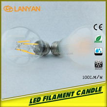 hot supermarket russian prices 2015 new product white warm 4W dimmable led filament bulb made in china converse all star