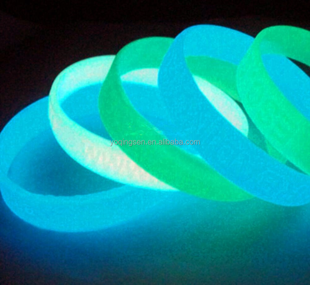 High quality custom luminous silicone bracelets and rubber wristband