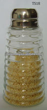 mini clear cylinder glass lateral-cut honey jar spice tools with metal lid