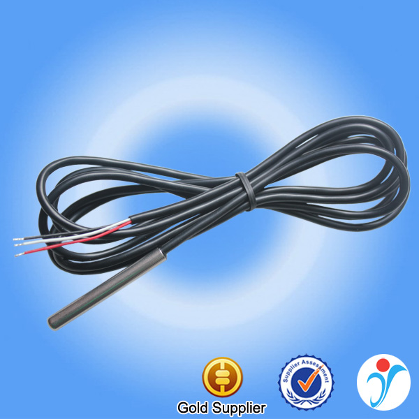 3-Core Wire Cable DS18B20 Sensor Waterproof Infrared Silicone Wire Heat Probe Digital Car DS18B20 Temperature Sensor