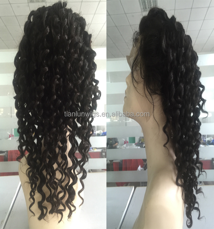 Wholesale Hot Quality 100% Brazilian Human Hair Full Lace Wig With Baby Hair for Black Women
