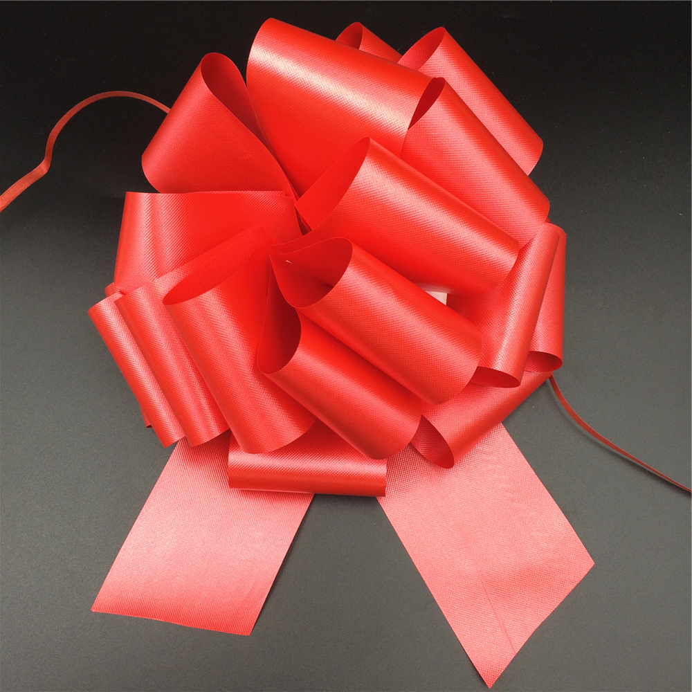 Red Color Wedding Gift Decoration Ribbon Pull Bow