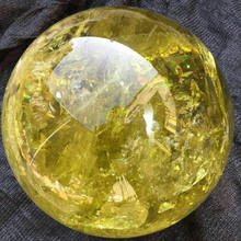 Natural Citrine Sphere/ BALL healing sphere ball from chinese supplier