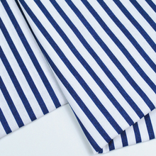 printing blue white stripe cotton hospital patient clothing fabric